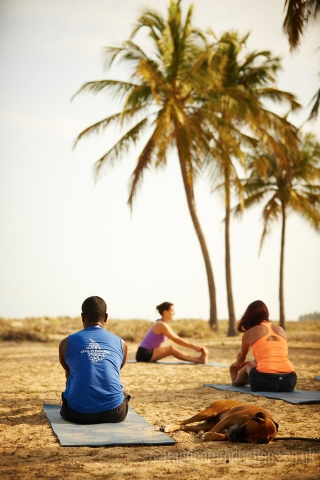Yoga on the beach Kalpitiya