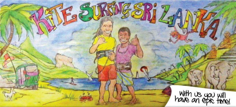 Leo Dil Kitesurfing Lanka begining