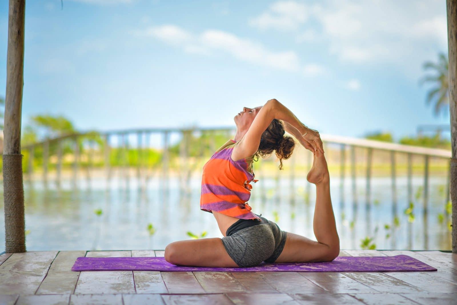 Yoga bij Kitesurfing Lanka