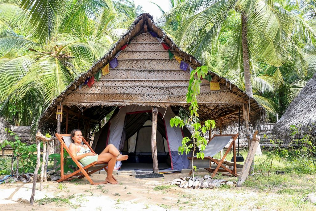 35u20ac / Person for full board (all meals included). kalpitiya deluxe tent accommodation & Comfortable tented accommodation in Kalpitiya - Kitesurfinglanka